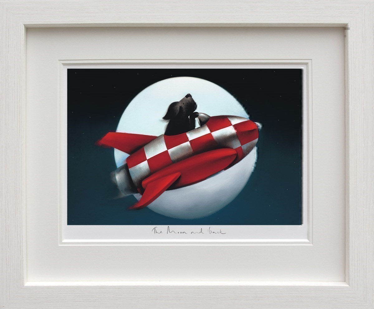 The Moon and Back by Doug Hyde - Limited Edition on Paper sized 20x13 inches. Available from Whitewall Galleries
